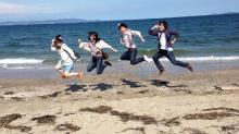 趣味のサークル(海鮮BBQ&砂浜遊び)